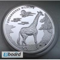 Монета 20 франков Жираф конго