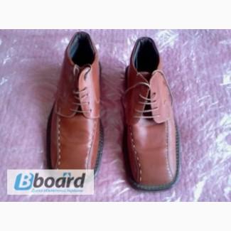 Ботинки мужские кожаные утепленные, 42 размер