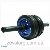 Ролик гимнастический для пресса металлический два колеса (колесо для пресса)
