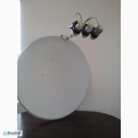 Продам спутниковую антенну с диаметром 90 см, 3 головки в сборе