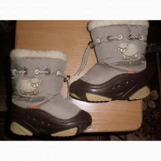 Продам ботинки зимние Demar (дев/мал) 14, 5 см 24-25 р