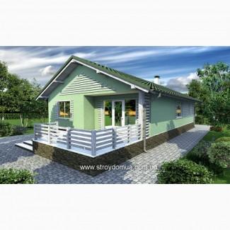 Каркасный дом по канадской технологии из сип панелей от производителя Харьков