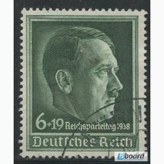 Почтовая марка. Adolf Hitler. Deutsches Reich. 6+19 pfg. 1938г. SC 664. USED