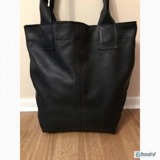 Кожаная сумка, шоппер новая, мягкая и удобная, кожа италия! акция