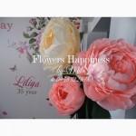 Аренда бумажных цветов. Ростовые цветы из гофрированной бумаги