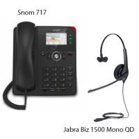 Snom D717 + Jabra Biz 1500 Mono QD, комплект: sip телефон + гарнитура