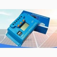 10A PWM (ШИМ) контроллер заряда солнечной панели Snaterm 12/24В с дисплеем, 2хUSB