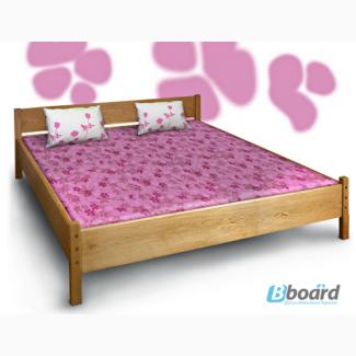 Двуспальная кровать из дуба Азалия