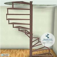 Металлокаркас лестницы - Винтовая