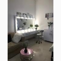 Гримерні дзеркала, гримерні столи, дзеркало з підсвіткою, надписом, малюнк
