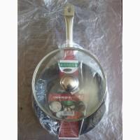 Экологическая сковорода 26 см. индукция со стекл. крышкой на ПОДАРОК