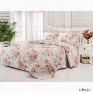 Стеганое покрывало купить Eponj Home Firuze розовое 200 220
