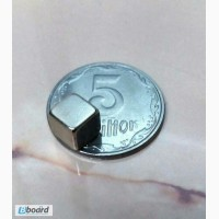Супермагнит магнит неодимовый 7 х 7 х 7 мм ранг N 38 NdFeB