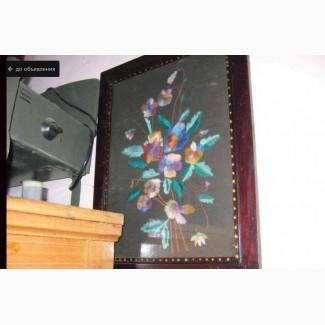 Картина Букет цветов (ручная вышивка). 1959-й год