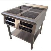 Индукционная плита 4х-конфорочная Tehma 4х3, 5 кВт для столовой и ресторана