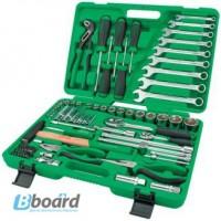 Набор инструмента комбинированный с трещотками 1/2 и 1/4, 80шт. TOPTUL GCAI8002