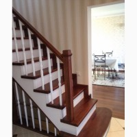 Лестницы деревянные, отделка бетонных лестниц деревом, заграждения