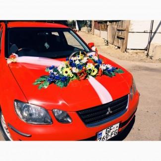 Свадебные украшения на машину в украинском стиле