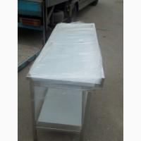 Нейтральное оборудование для кафе столы с полками по цене б/у из нержавейки Стол борт