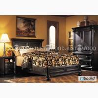 Двуспальная кровать Флоренция из натурального дерева