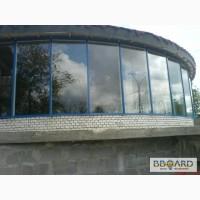 Фасады алюминиевые стекляные, басейны