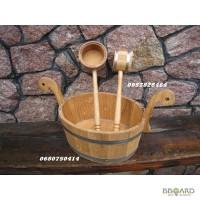 Для бани дубовые черпаки, шайки, ведра и др. изделия из дерева