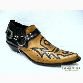 Песочные Казаки Etor мужские туфли на кожаной подошве. Качество.Стиль.