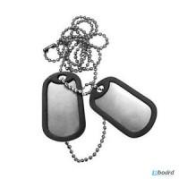 Жетоны для военных стальные US на цепочке