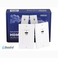 Розетка HDmi, HDMI розетки по витой паре и настенные розетки hdmi по кабелю