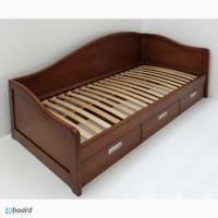 Кровать-диван для детской комнаты из массива дерева (ясень, дуб)