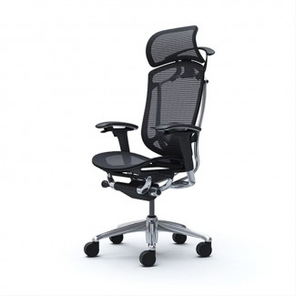 Кресло руководителя OKAMURA CONTESSA II SECONDA Black, полированное