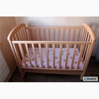 Продам детскую кроватку Соня ЛД9 с ящиком + кокосовый матрас