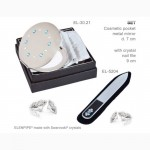 Наборы зеркальце EL-30 – 30.21 и пилочка маникюрная украшены Swarovski crystals