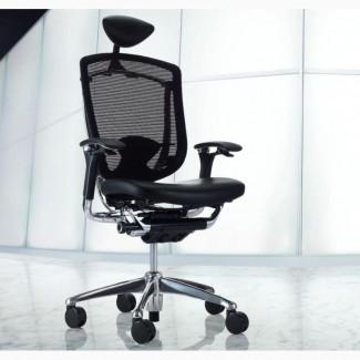 Кресла OKAMURA СONTESSA Япония спинка/сетка, сидение/кожа, подголовник/кожа, полированное
