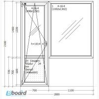 Балконный блок ALMplast. Киев и Бровары - 3460 грн