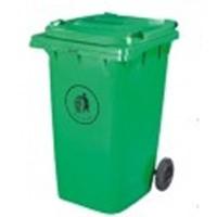 Бак для мусора пластиковый 360л., зеленый. 360А-2G