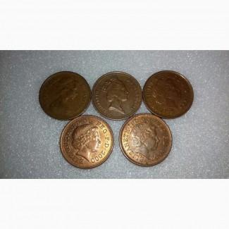 Монеты Англии 5шт, за все 30грн