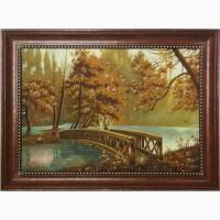 Продам картину из янтаря Мост влюбленных