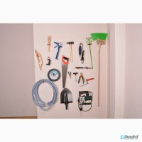 Крючки и кронштейны настенные для хранения инструментов и инвентаря