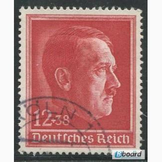 Почтовая марка. Adolf Hitler. Deutsches Reich. 12+38 pfg. 1938г. SC 656. USED