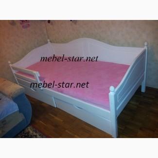 Подростковая кровать из натурального дерева Домиан