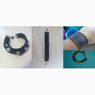Кожаные браслеты, мужские и женские, разные застежки