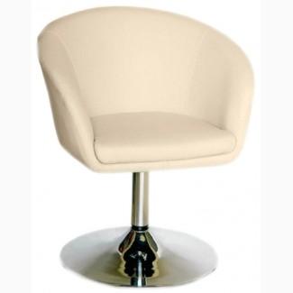 Кресло Мурат New, хром, поворачивается, белый, синий