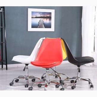 Кресло компьютерное Астер, цвет серый, черный на колесиках