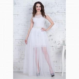 Красивое молочное и пудровое платье трансформер