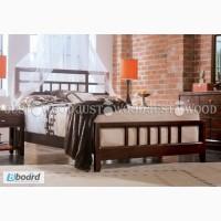 Двуспальная кровать Венеция из натурального дерева