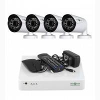 Комплект Відеоспостереження GreenVision На 4 Вуличних FullHD Камери 2 Мп