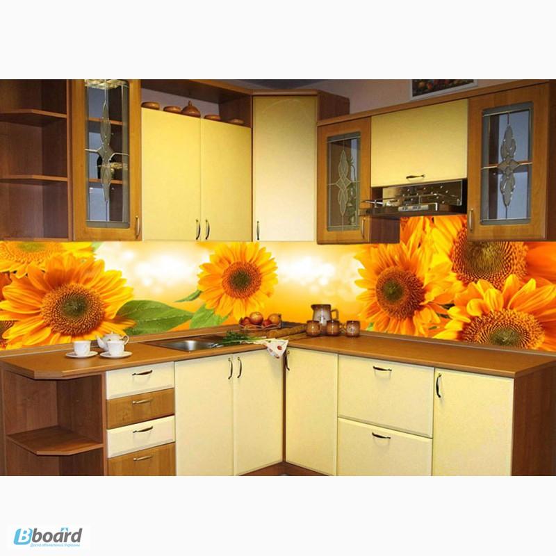 Интерьер кухни с подсолнухами фото