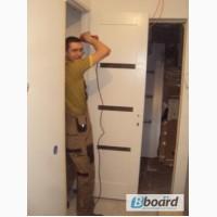 Установка деревянных окон и дверей