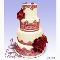 Модный свадебный торт на заказ в Киеве Инфанта